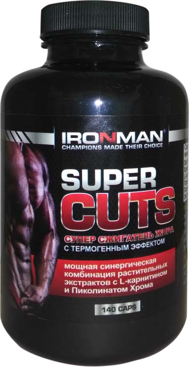 Жиросжигатель Ironman Super Cuts, 140 капсул аминокислота ironman l глютамин 60 капсул