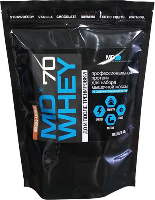 Протеин MD Whey 70, шоколад-карамель, 300 г whey isolate