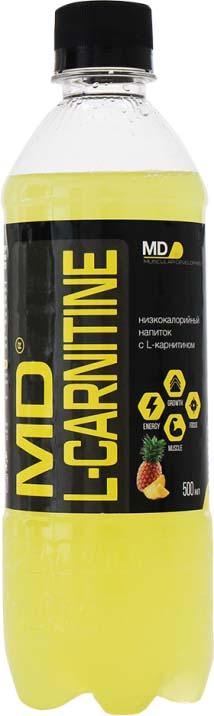 Карнитин MD L-Carnitin, ананас, 500 мл l карнитин sportexpert l carnitine яблоко 1800 мг 8 флаконов x 50 мл