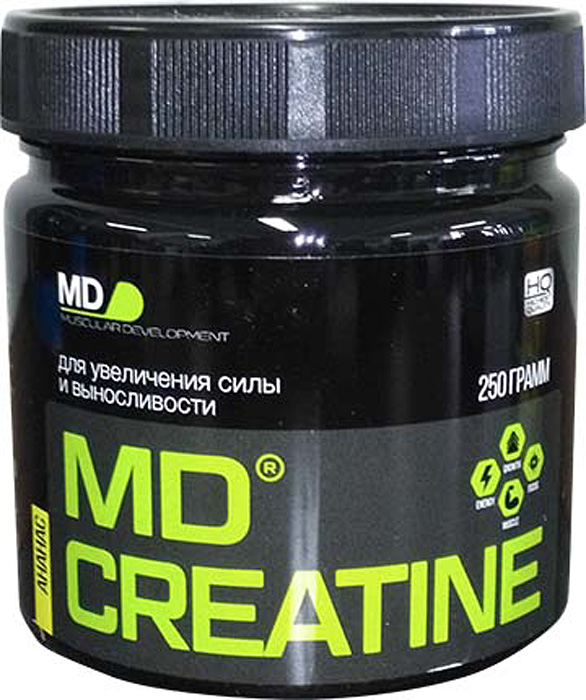 Креатин моногидрат MD Creatine, ананас, 250 г dymatize nutrition моногидрат креатина dymatize creatine micronized 500гр