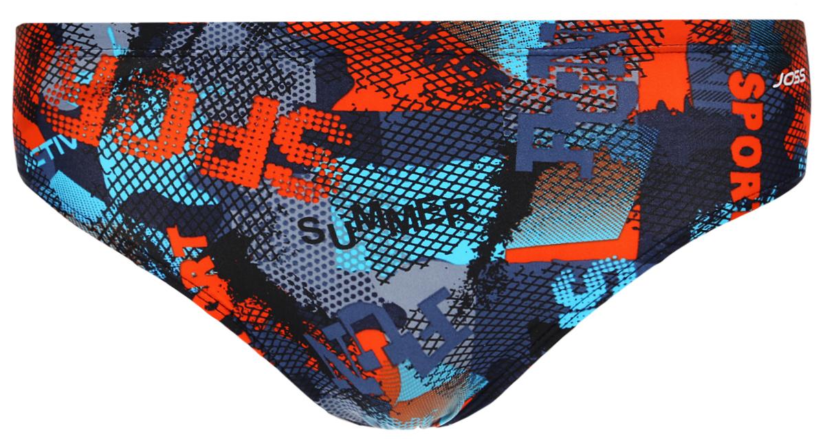 Плавки мужские Joss Men's Trunks, цвет: синий, оранжевый. MHT05S6-ME. Размер 56