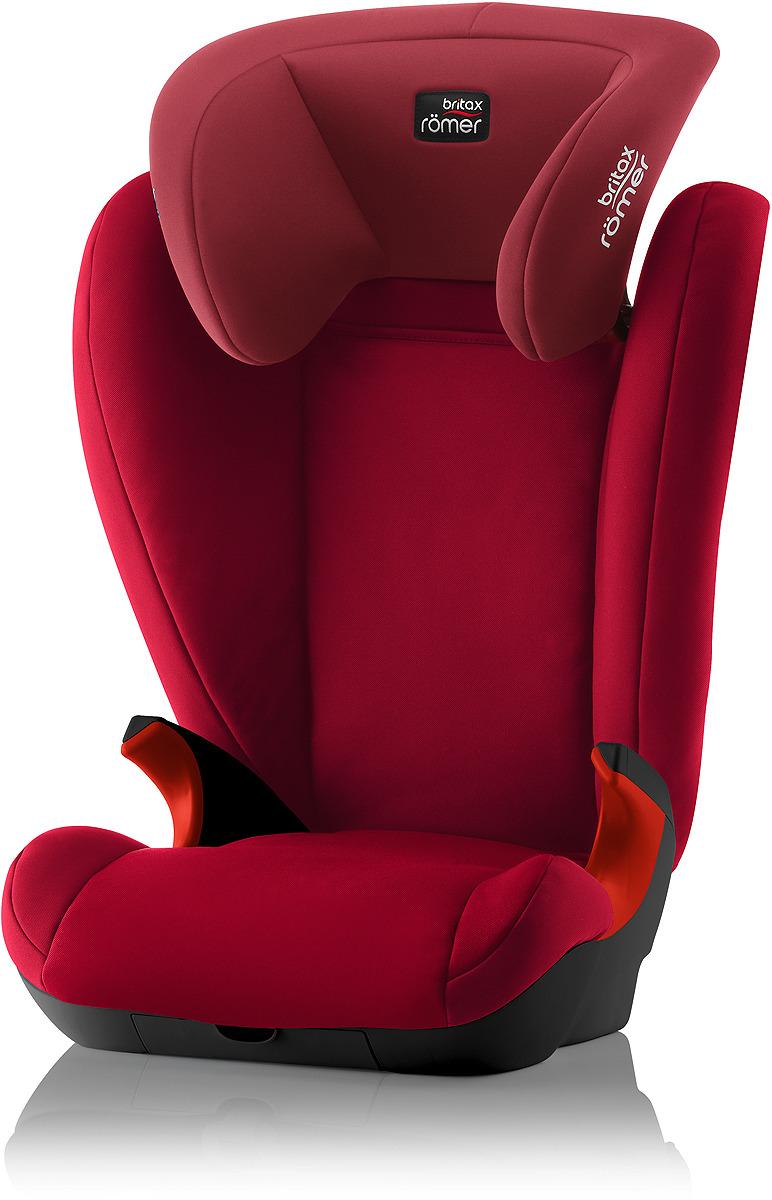 Автокресло детское Britax Roemer Kid II Black Series Flame Red Trendline, от 15 до 36 кг