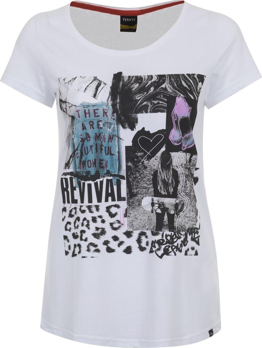 Футболка женская Termit Women's T-Shirt, цвет: белый. A19ATETSW02-00. Размер XS (42) termit покрытие для скейтборда termit