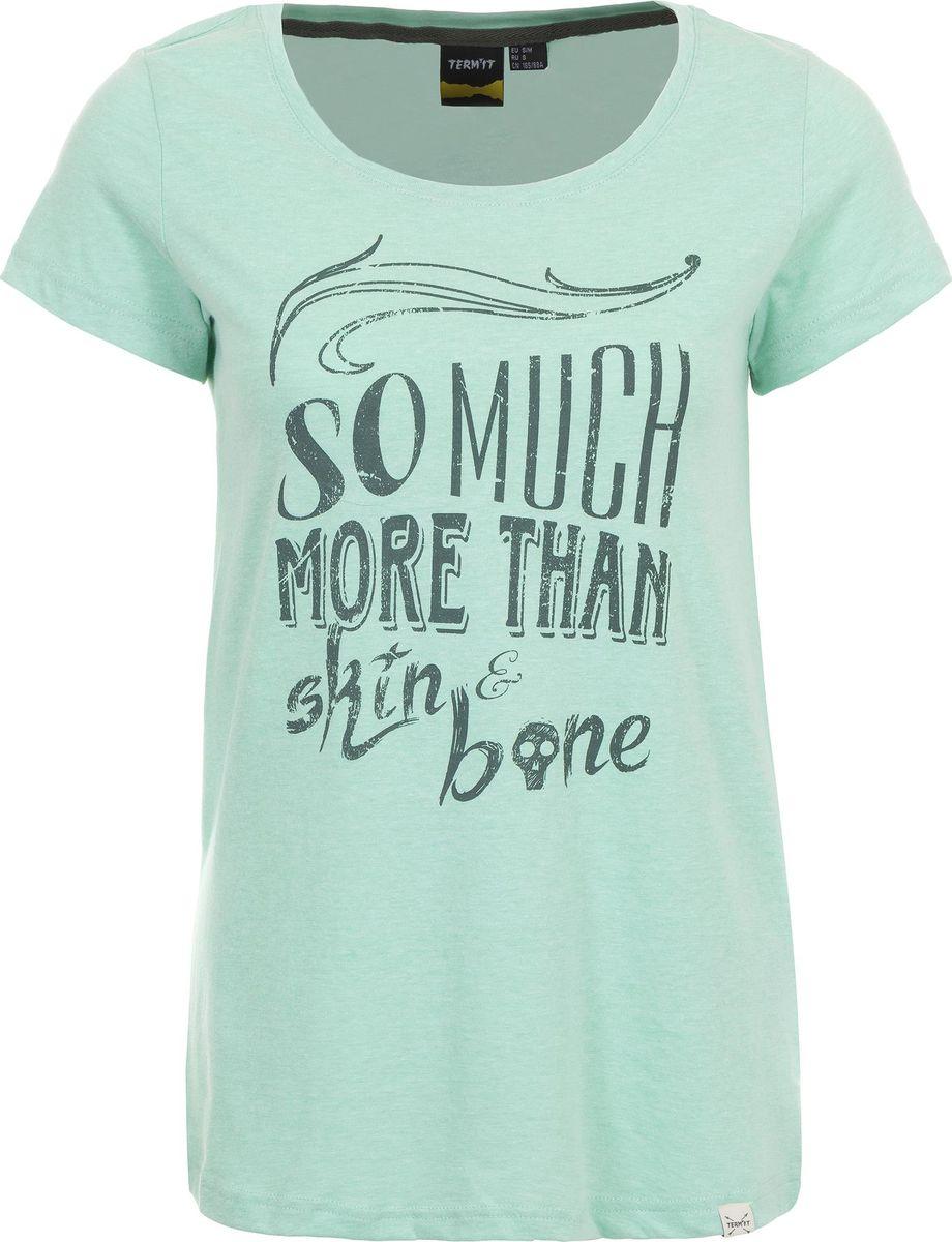 Футболка женская Termit Women's T-Shirt, цвет: мятный. A19ATETSW01-1U. Размер XS (42) termit покрытие для скейтборда termit