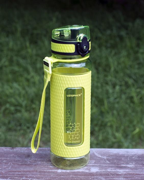 Бутылка для воды UZSPACE Diamond, цвет:  зеленый, 450 мл UZSPACE