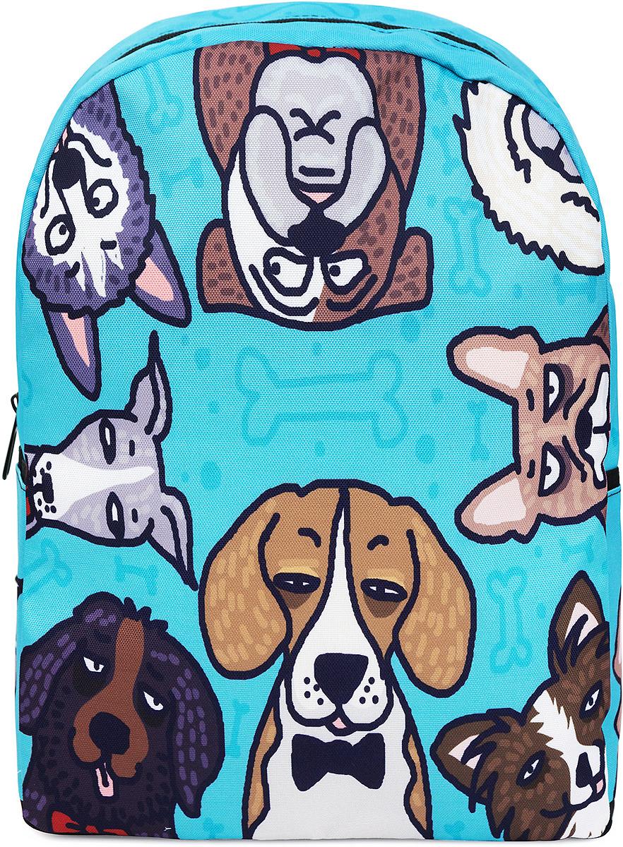 Рюкзак женский Kawaii Factory Собаки, цвет: голубой. KW102-000498