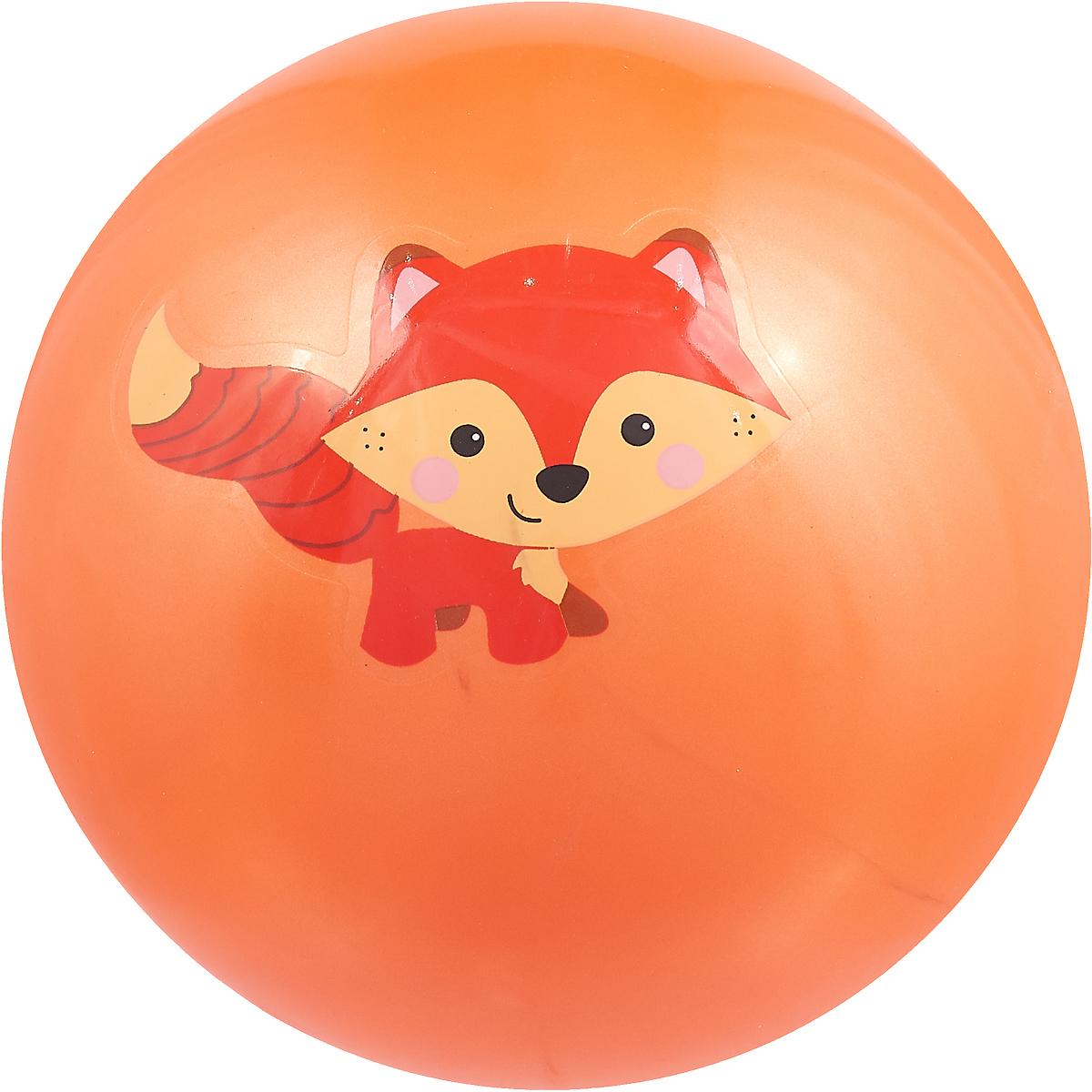 Мяч Играем вместе Лисенок, цвет: оранжевый, 23 см. AD-9 играем вместе лизун паутина цвет голубой
