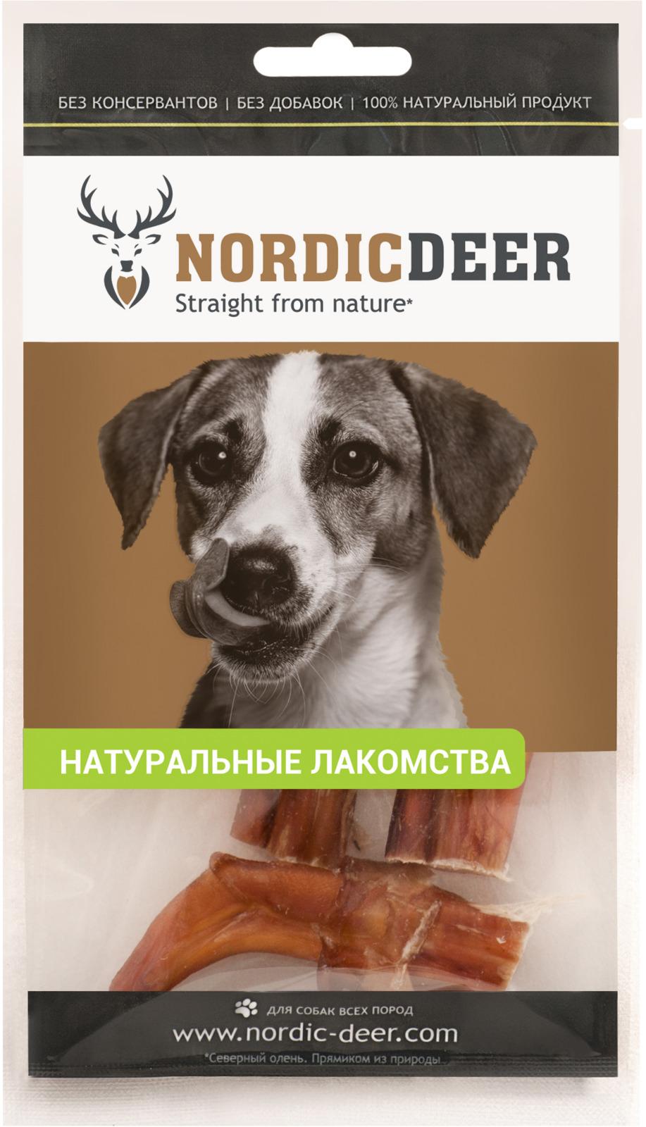 Лакомство для собак Nordic Deer Бычий корень дольки, 40 г лакомство vita pro dentes для собак средних пород 35 г 2 шт