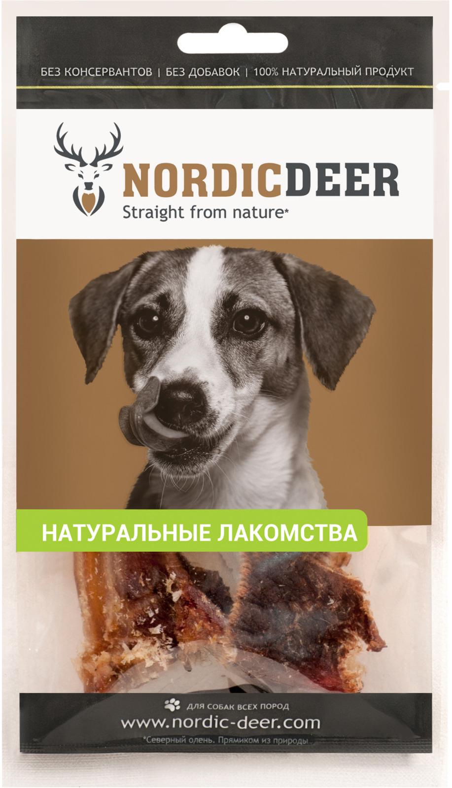 Лакомство для собак Nordic Deer Бычий корень мясные хрустики, 40 г лакомство зубочистики мятные для собак средних пород для поддержания пищеварения 4 шт