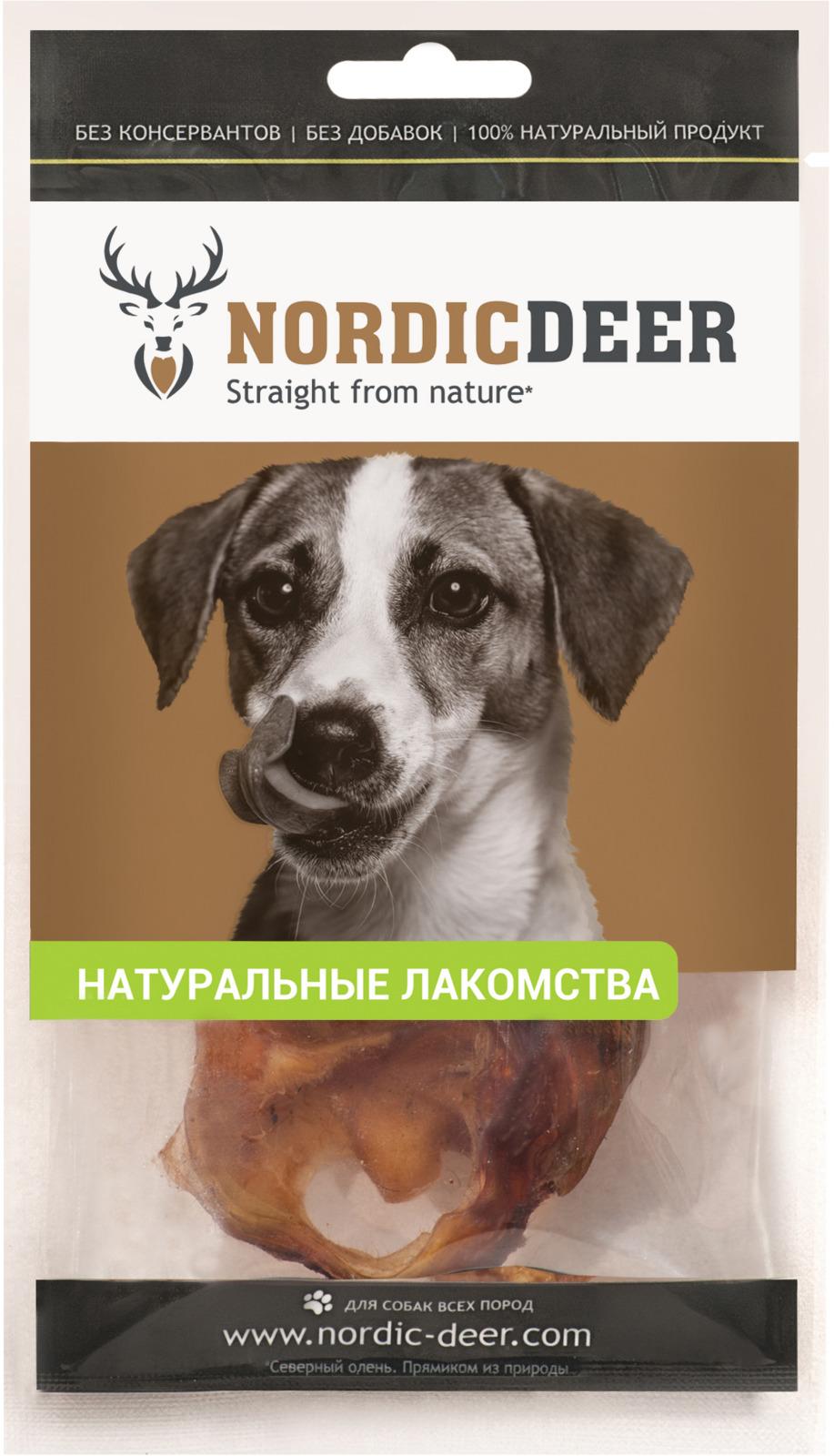 Лакомство для собак Nordic Deer Ухо говяжье внутреннее, 2 шт nordic modern living room bedroom background simple english deer head decorative