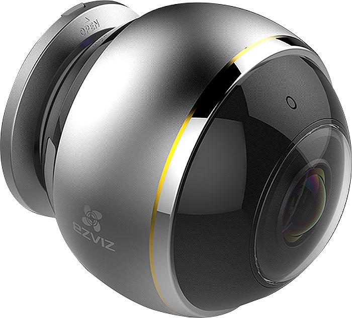 Камера видеонаблюдения Ezviz Mini Pano, Gray ip камера hiwatch ds i122 2 8 mm 1 3мп уличная купольная мини ip камера ик подсветкой до 15м 1 3 cmos матрица объектив 2 8мм угол обзора 92 5°