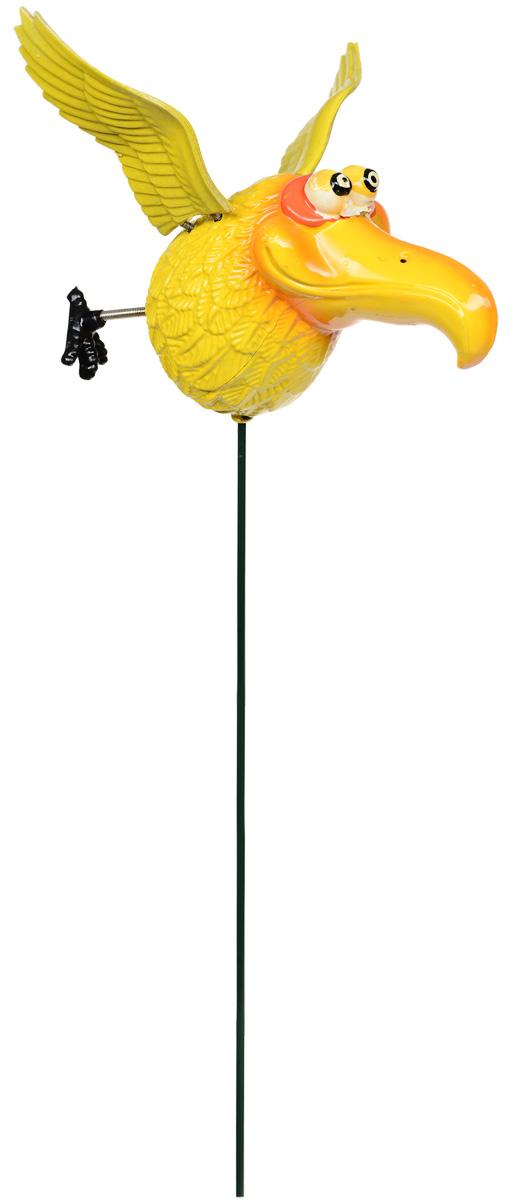 Штекер садовый Garden Show Птица, цвет: желтый, оранжевый кликер трехтоновый v i pet с браслетом цвет оранжевый желтый
