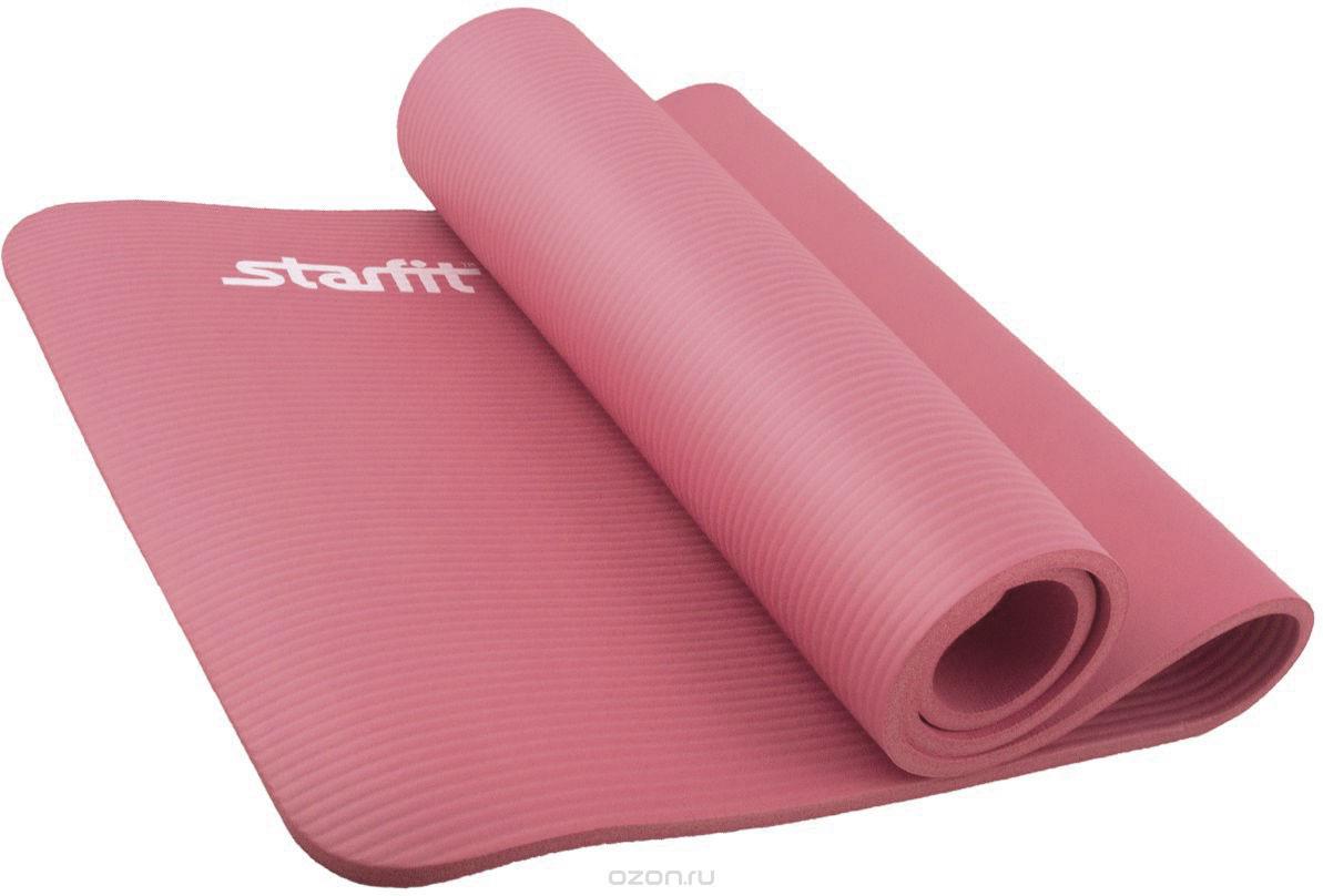 Коврик для йоги Starfit, цвет: коралловый, 183 x 58 x 1,2 см 183 x 61cm nbr yoga mat