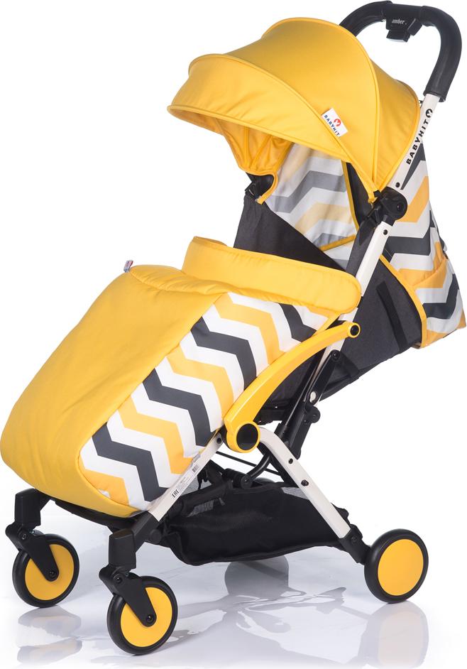 Коляска прогулочная BabyHit Amber Plus, цвет: желтый babyhit babyhit ходунки first step зеленые