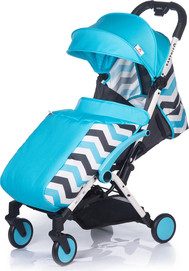Коляска прогулочная BabyHit Amber Plus, цвет: светло-голубой babyhit babyhit ходунки first step зеленые