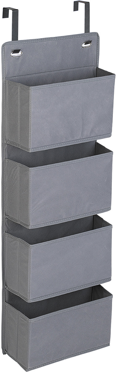 Органайзер подвесной Tatkraft Cozy, 4 кармана, 33 х 16 х 90 см стойка для одежды и обуви tatkraft saturn 3 уровня на колесах с регулируемой шириной и высотой 84 121 5 x 42 5 x 113 198 см