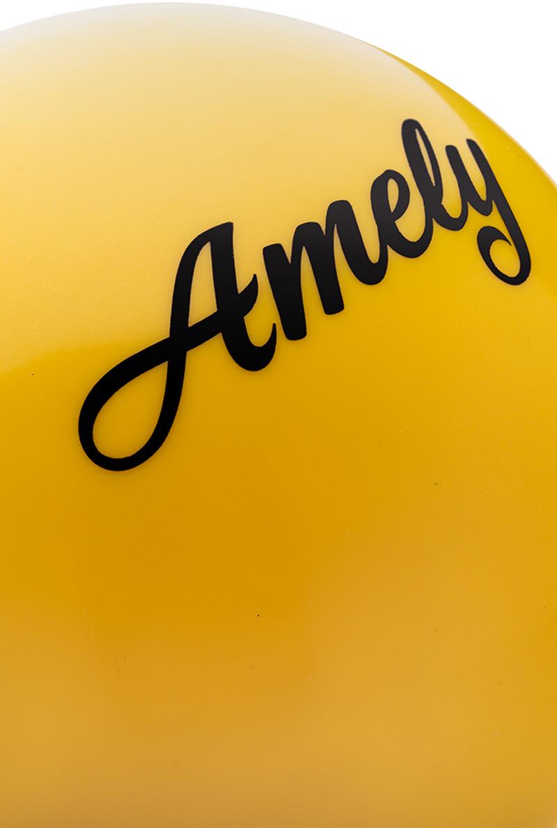 Мяч для художественной гимнастики Amely AGR-101, диаметр 15 см, цвет:  желтый Amely
