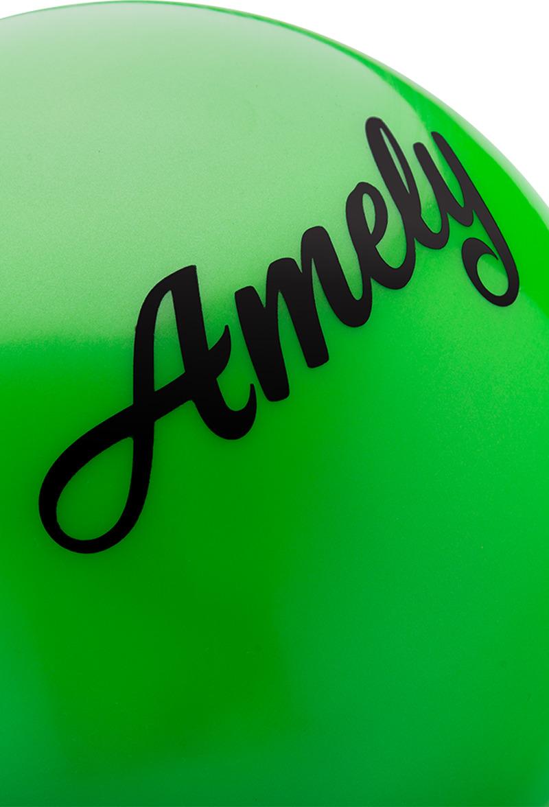 Мяч для художественной гимнастики Amely AGR-101, диаметр 15 см, цвет:  зеленый Amely