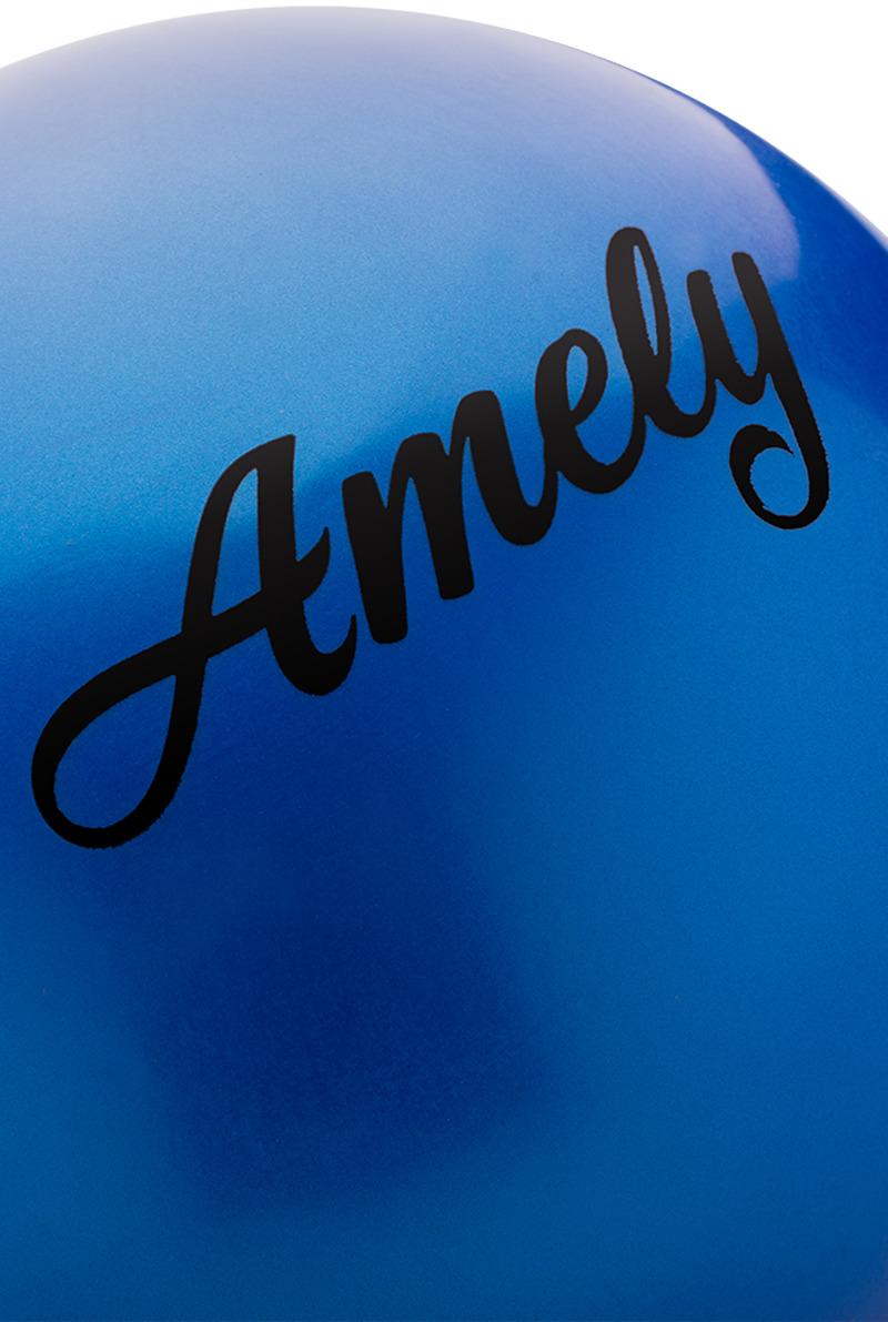 Мяч для художественной гимнастики Amely AGR-101, диаметр 15 см, цвет:  синий Amely