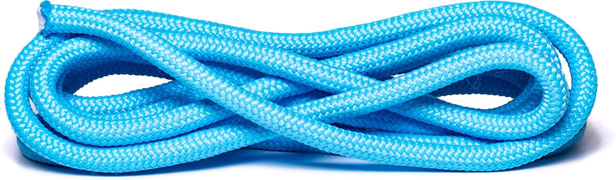 Скакалка для художественной гимнастики Amely AGO-104, длина 3 м, цвет: голубой скакалка скоростная proxima crossfit jr 7001 r red