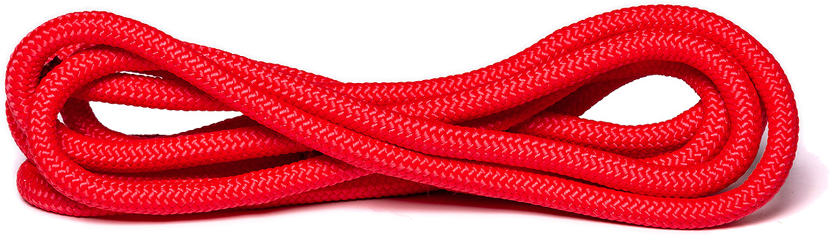 Скакалка для художественной гимнастики Amely AGO-104, длина 3 м, цвет: красный скакалка скоростная proxima crossfit цвет черный красный 3 м