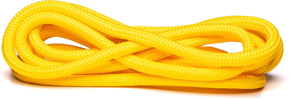 Скакалка для художественной гимнастики Amely AGO-104, длина 3 м, цвет: желтый