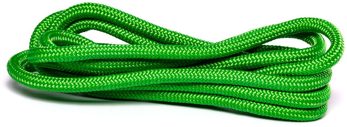 Скакалка для художественной гимнастики Amely AGO-104, длина 3 м, цвет: зеленый лента для художественной гимнастики amely agr 201 длина 6 м с палочкой 56 см цвет фиолетовый