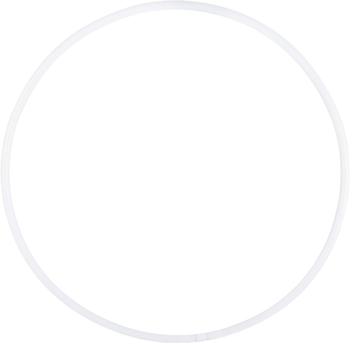 Обруч для художественной гимнастики Amely AGO-101, диаметр 85 см, цвет: белый лента для художественной гимнастики amely agr 201 длина 6 м с палочкой 56 см цвет фиолетовый