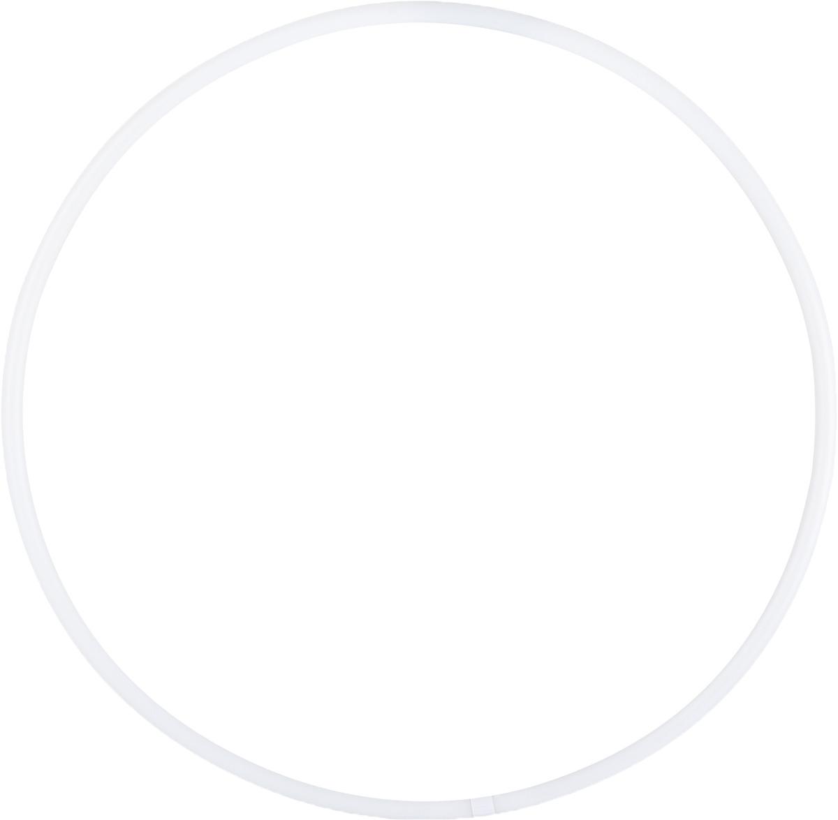 Обруч для художественной гимнастики Amely AGO-101, диаметр 60 см, цвет: белый мяч для художественной гимнастики amely agr 101 диаметр 15 см цвет синий белый