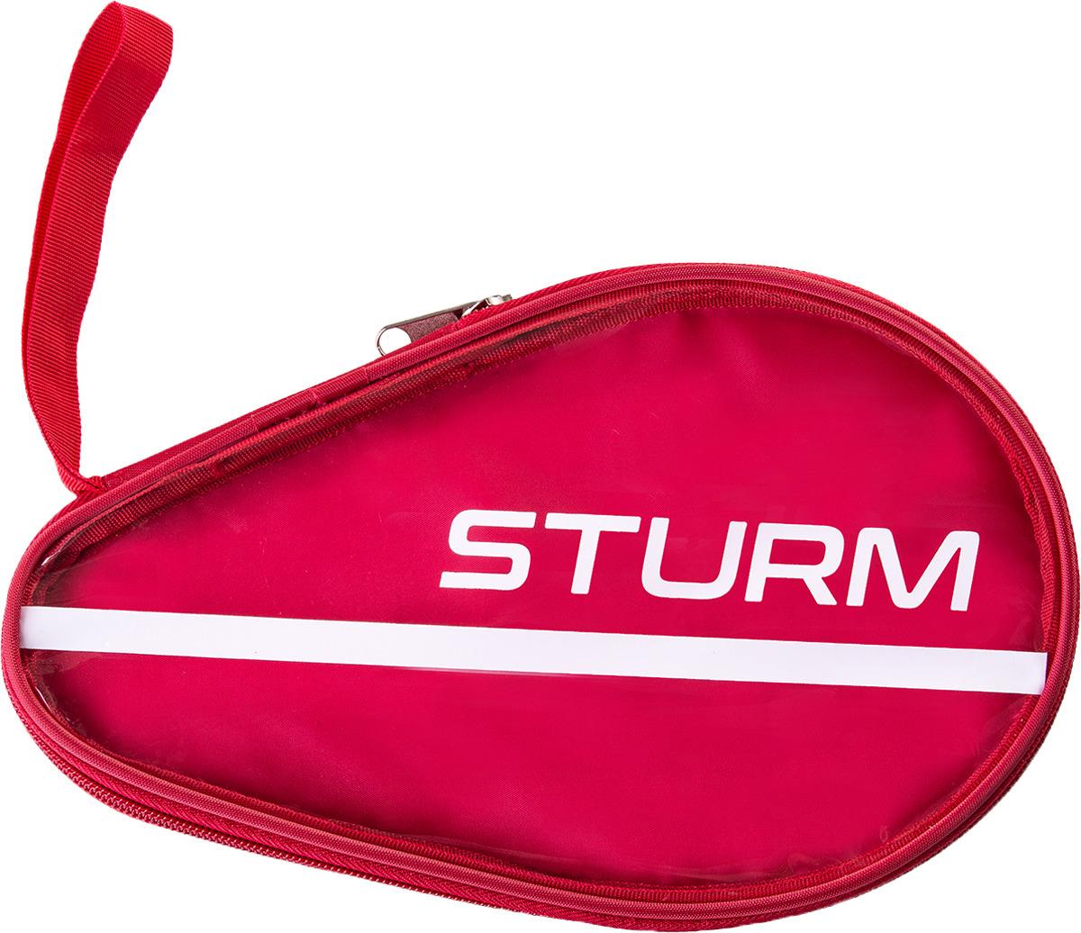 Чехол для ракетки для настольного тенниса Sturm CS-02, для одной ракетки, цвет: красный, прозрачный мужская бейсболка 11 cayler snapback