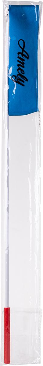 Лента для художественной гимнастики Amely AGR-201, длина 4 м, с палочкой 56 см, цвет:  голубой Amely