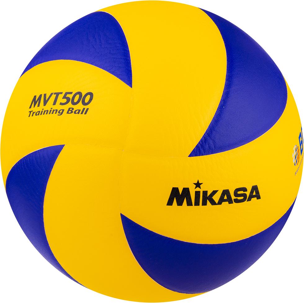 Мяч волейбольный Mikasa MVT 500, цвет: желтый, синий, размер 5 платье lozana paris lozana paris lo043ewbjjg8
