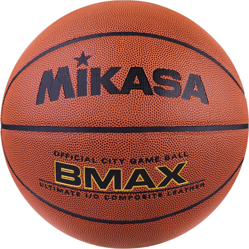 Мяч баскетбольный Mikasa BMAX, цвет:  оранжевый, черный, размер 7 Mikasa