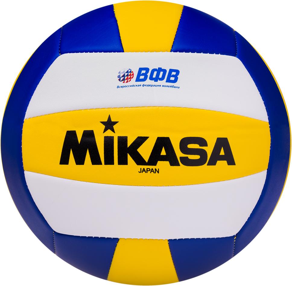 Мяч волейбольный Mikasa VSO 2000, цвет:  белый, желтый, синий, размер 5 Mikasa