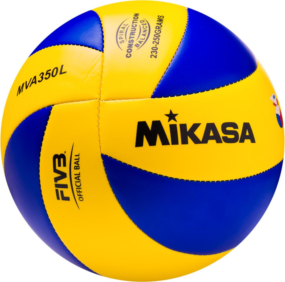 Мяч волейбольный Mikasa MVA 350 L, цвет: желтый, синий, размер 5 мяч indigo 5 scorpion