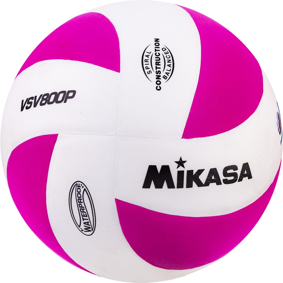 Мяч волейбольный Mikasa VSV 800, цвет: белый, розовый, размер 5 мяч волейбольный j gel jv 800