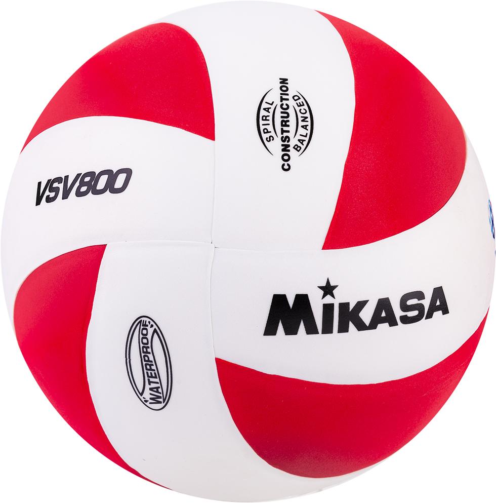 Мяч волейбольный Mikasa VSV 800, цвет: белый, красный, размер 5 мяч волейбольный j gel jv 800