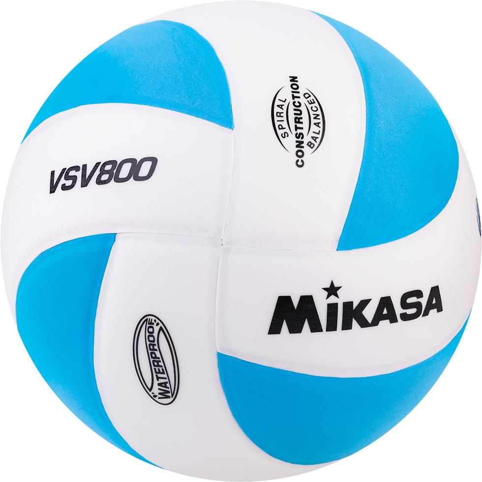 Мяч волейбольный VSV 800 WB Любительский мяч из очень мягкой, бархатистой на ощупь синтетической пены ТПЕ (поливинилхлорид с добавлением эластомера). Дизайн серии MIKASA MVA. Клееный, бутиловая камера, армированная покладочным слоем из ткани, размер 5, 8 панелей.  Мяч имеет специальное водонепроницаемое покрытие, что делает возможным его применение для игры на пляже, в воде а так же на открытых площадках, но со специальным покрытием.