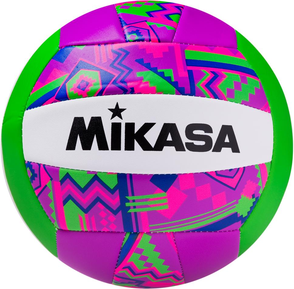 Мяч волейбольный Mikasa GGVB-SF, цвет: белый, фиолетовый, розовый, размер 5 мяч indigo 5 scorpion