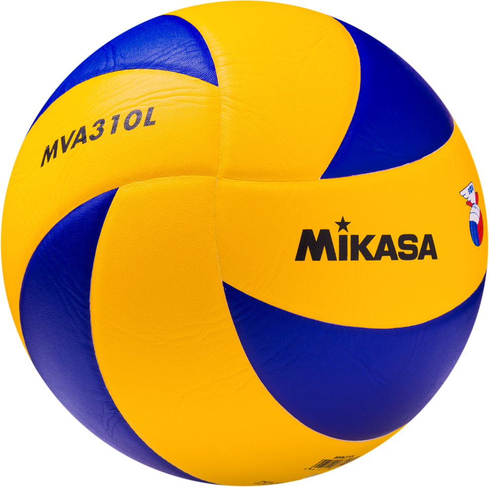 Мяч волейбольный Mikasa MVA 310 L, цвет: желтый, синий, размер 5 мяч для пляжного волейбола mikasa vxs zb b р 5