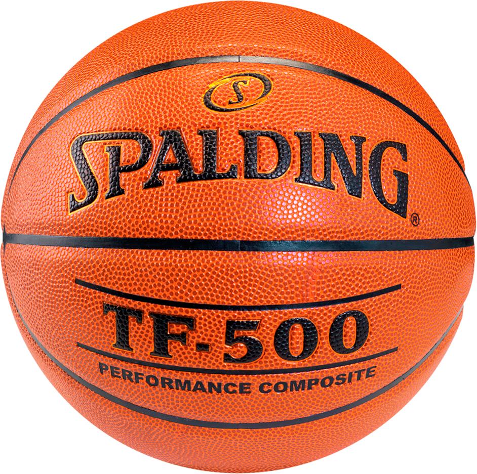 Мяч баскетбольный Spalding TF-500, цвет: коричневый, черный, размер 6 баскетбольный мяч р 6 and1 competition micro fibre composite page 6