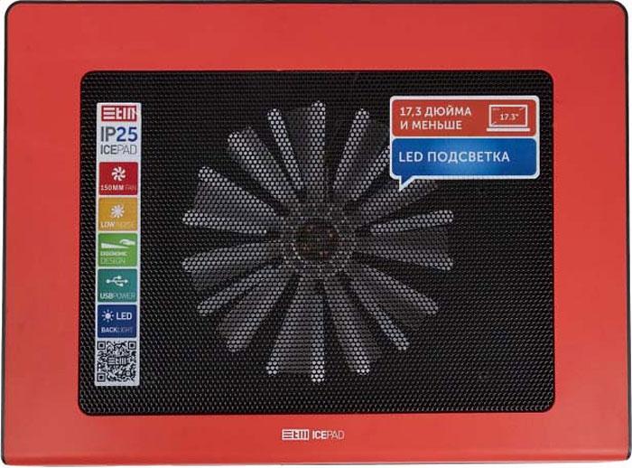"Охлаждающая подставка STM IP25 для ноутбука до 17,3"", Red"