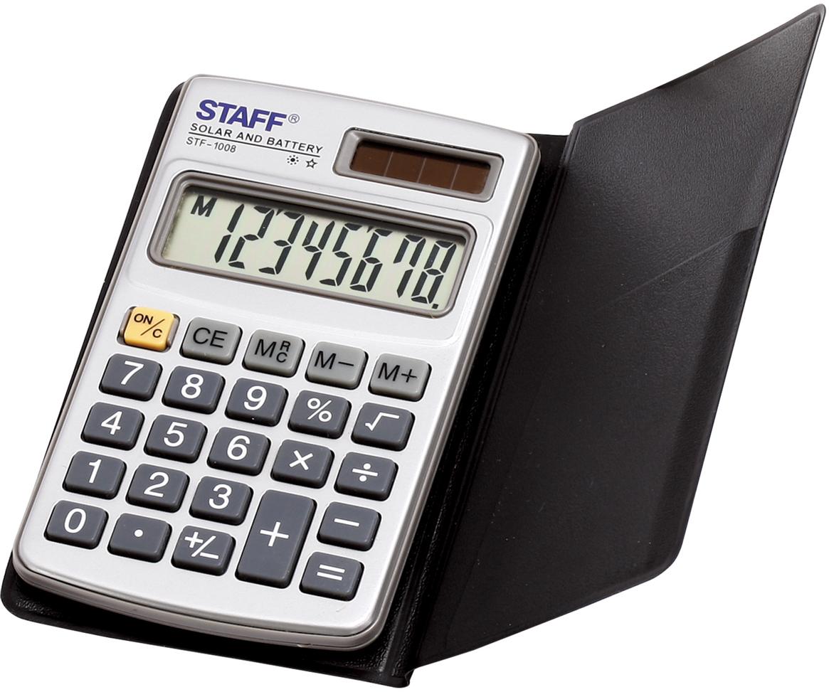 Калькулятор карманный Staff STF-1008 калькулятор staff stf 165