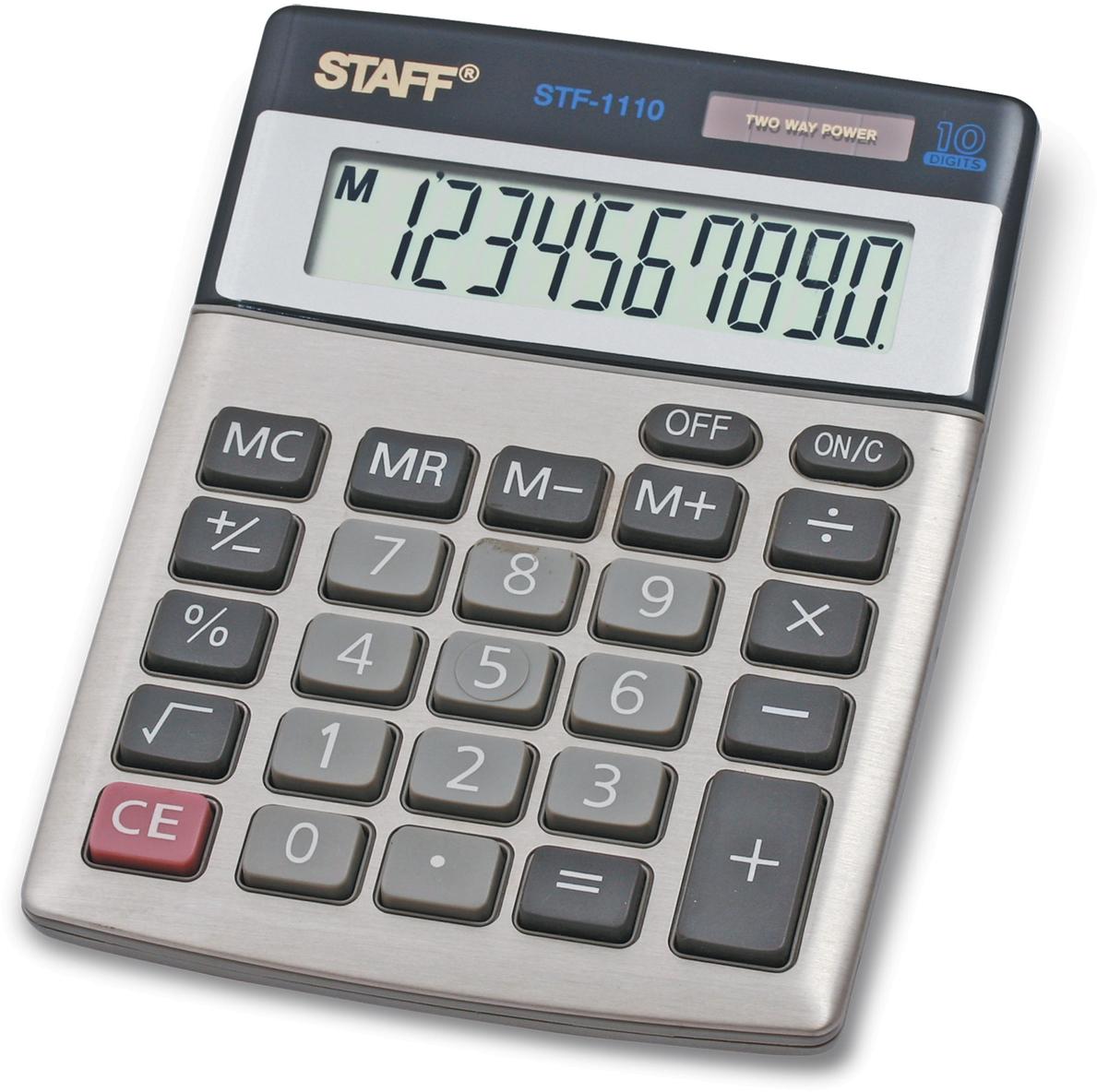 Калькулятор настольный Staff STF-1110 калькулятор staff stf 165
