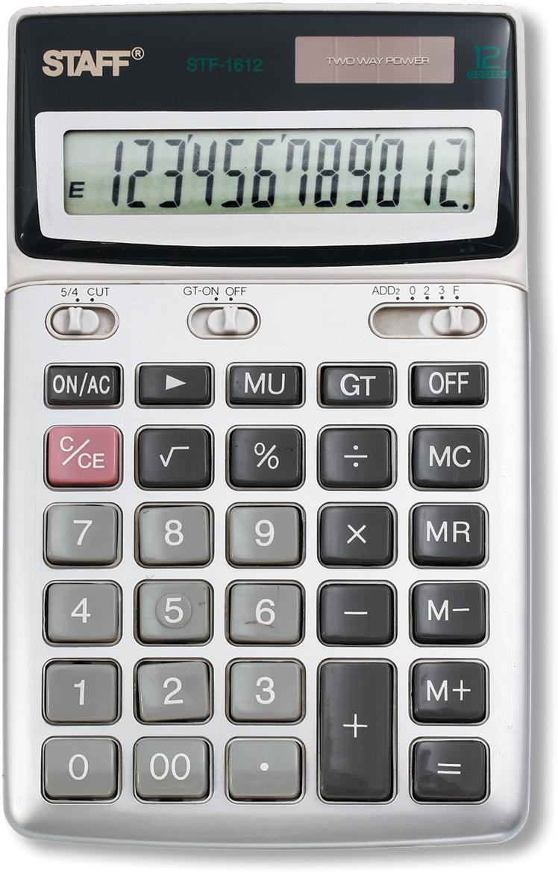 Калькулятор настольный Staff STF-1612 канцелярия staff калькулятор настольный stf 555 white