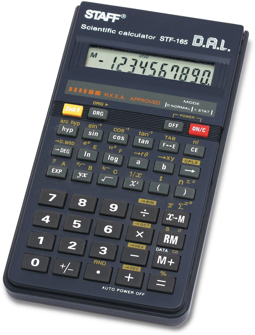 Калькулятор инженерный Staff STF-165 калькулятор staff stf 165