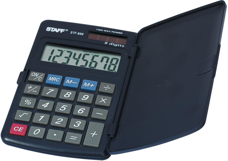 Калькулятор карманный Staff STF-899 калькулятор staff stf 165