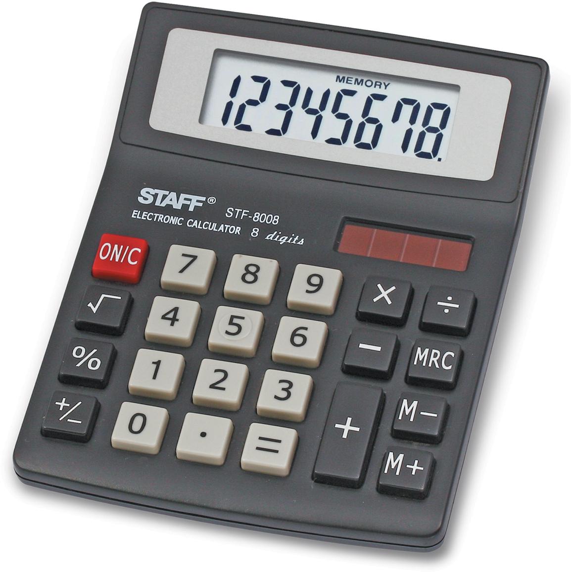 Калькулятор настольный Staff STF-8008. 250147 калькулятор staff stf 165