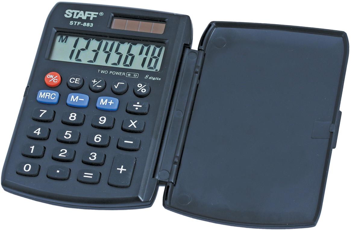 Калькулятор карманный Staff STF-883 калькулятор staff stf 165