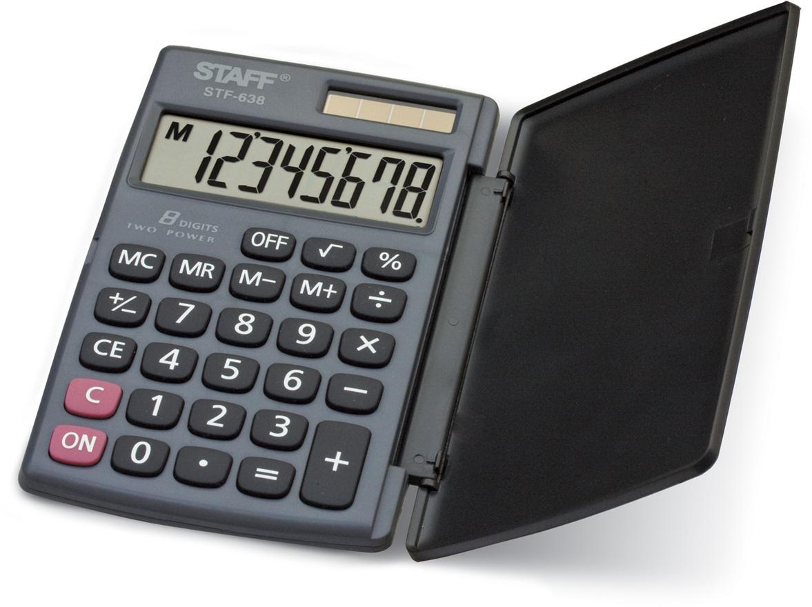 Калькулятор карманный Staff STF-638 калькулятор staff stf 165